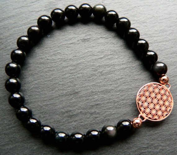 onyx armband blume des lebens ros. Black Bedroom Furniture Sets. Home Design Ideas